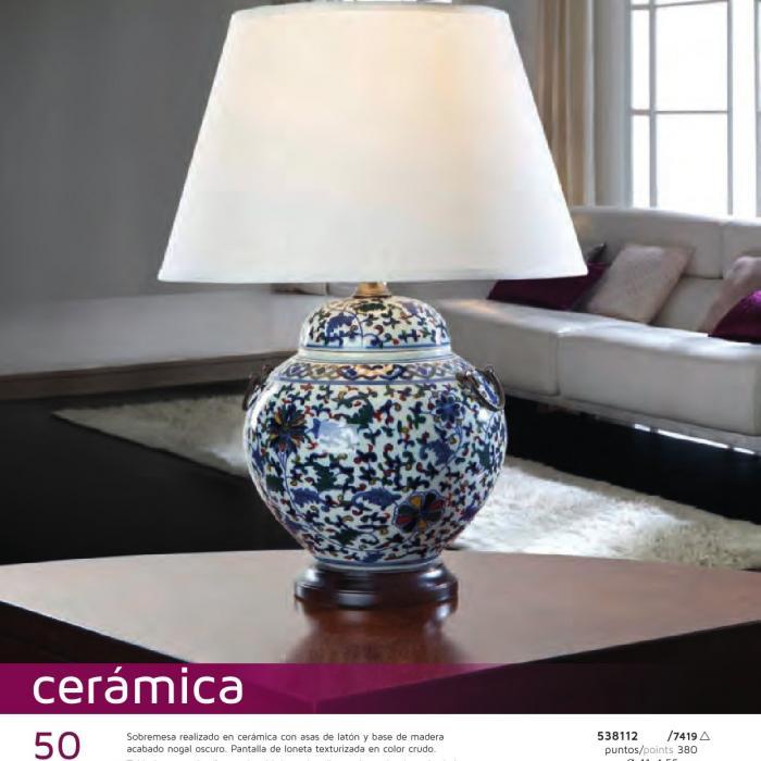 Schuller Ceramica Lampada da tavolo con Paralume 538112 7419