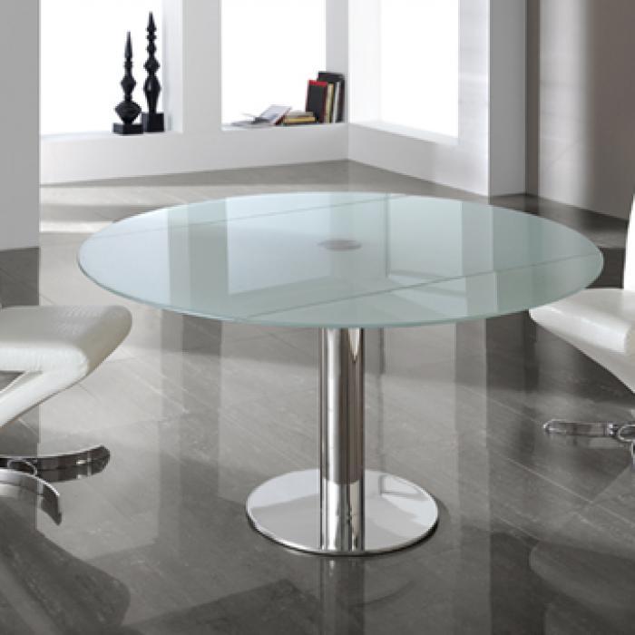 Imagen 1 de Alba mesa de comedor extensible acero inoxidable/Cristal Templado