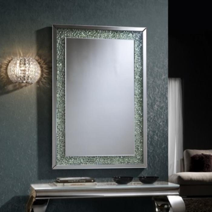 Imagen 1 de Amaya espejo 120x80cm Gemas de cristal transparente