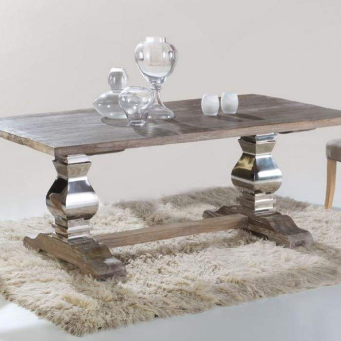 Imagen 1 de Antica table comedor 200x78x100cm Wood with patina white