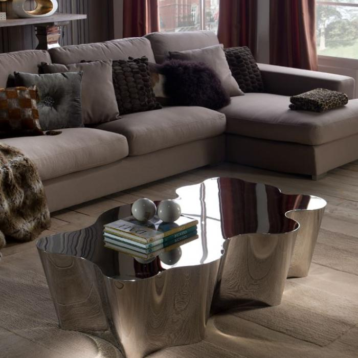 Imagen 1 de Arcadia coffee table 38x133cm - Stainless Steel pulido