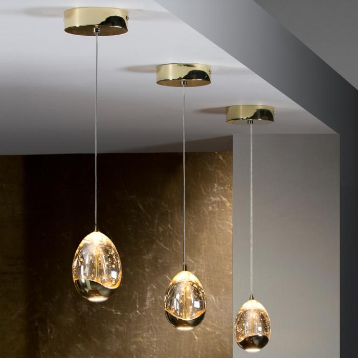 Imagen 1 de Rocio Lámpara Colgante 14x12cm LED 5W - Oro
