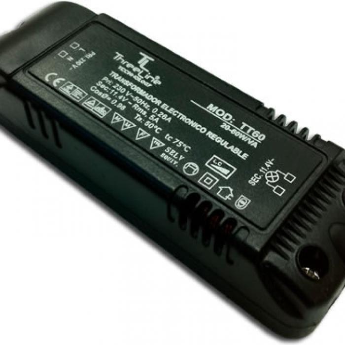 Imagen 1 de Transformador electrónico regulable 230V a 12V 60W
