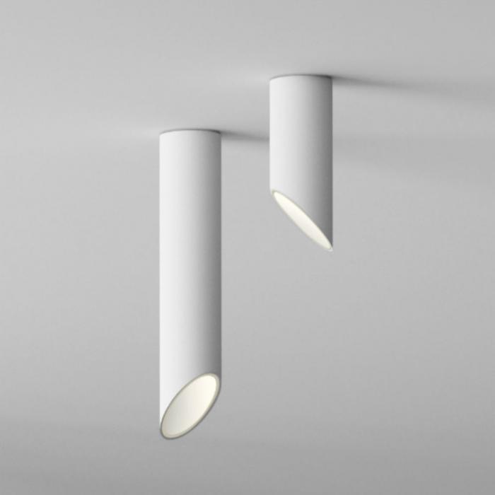 Imagen 1 de 45º Tubo corto Plafón 1xLED 6,1W - Lacado blanco mate