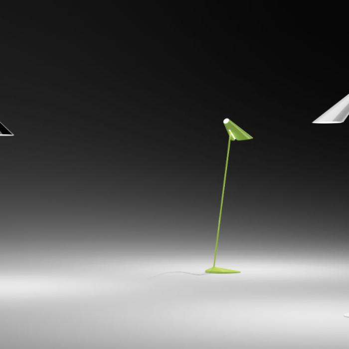 Imagen 1 de I.Cono lámpara de Pie Lectura 127cm modelo A 1xE14 46w Lacado negro billo