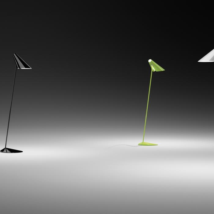 Imagen 1 de I.Cono lámpara de Pie Lectura 127cm 1xE14 46w Lacado blanco mate