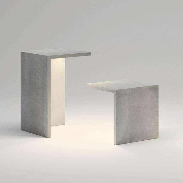 Imagen 1 de Empty Asiento 45x45x45 tira LED 2x8,6w - béton polímero Gris