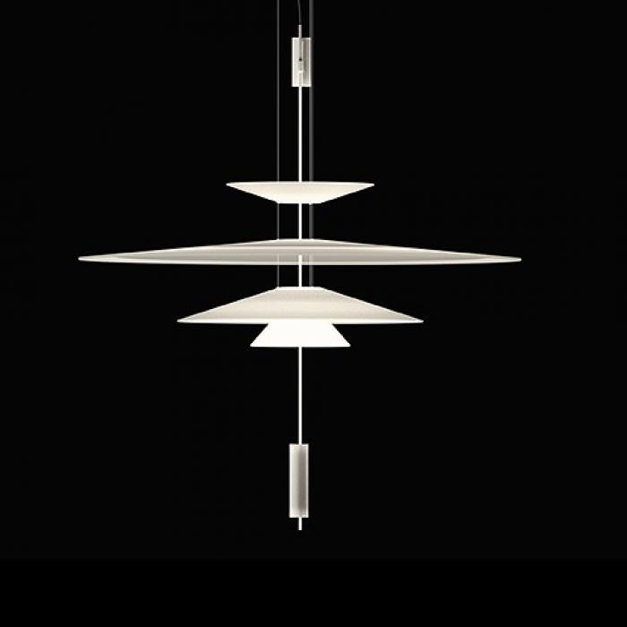 Imagen 1 de Flamingo Lampada a sospensione 103 cm 3xLED 5,6W dimmable - Laccato bianco opaco