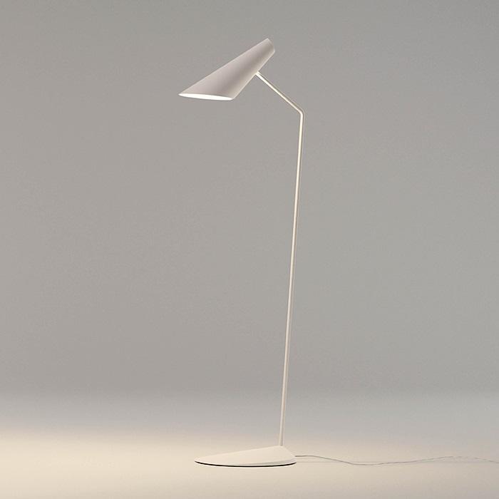Imagen 1 de I.Cono Lámpara de Pie Lectura 127cm modelo B 1xE14 46w - Lacado blanco mate