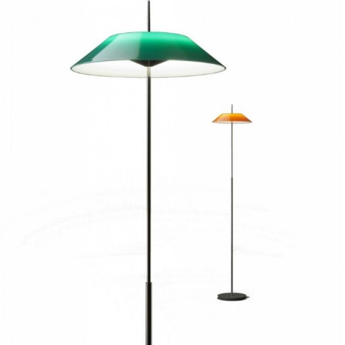 Imagen 1 de Mayfair Lámpara de Pie 147cm 1xLED 2,4W + 1xLED 16,8W dimmable pantalla de metacrilato - Níquel negro Brillante y Verde
