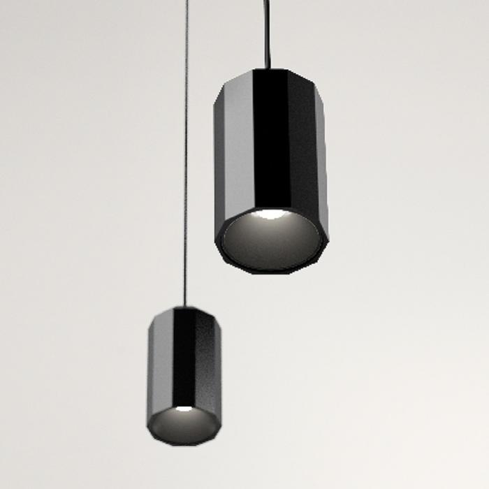 Imagen 1 de Wireflow FreeForm Lámpara Colgante 200cm 1xLED 4,5W dimmable (sin Difusor de vidrio) - Lacado negro