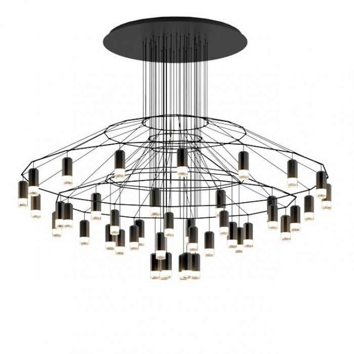 Imagen 1 de Wireflow Lineal Lámpara Colgante 115cm 42xLED 4,5W dimmable - Lacado negro