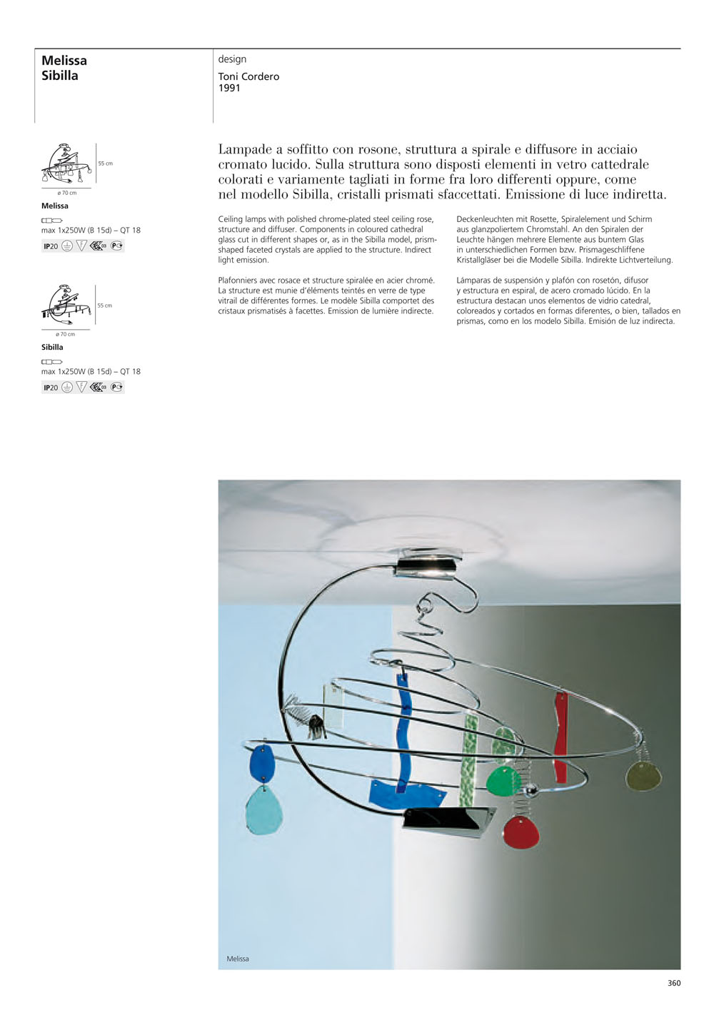 Artemide Melissa Lamp Of Plafn C092000 Lmparas De Diseo