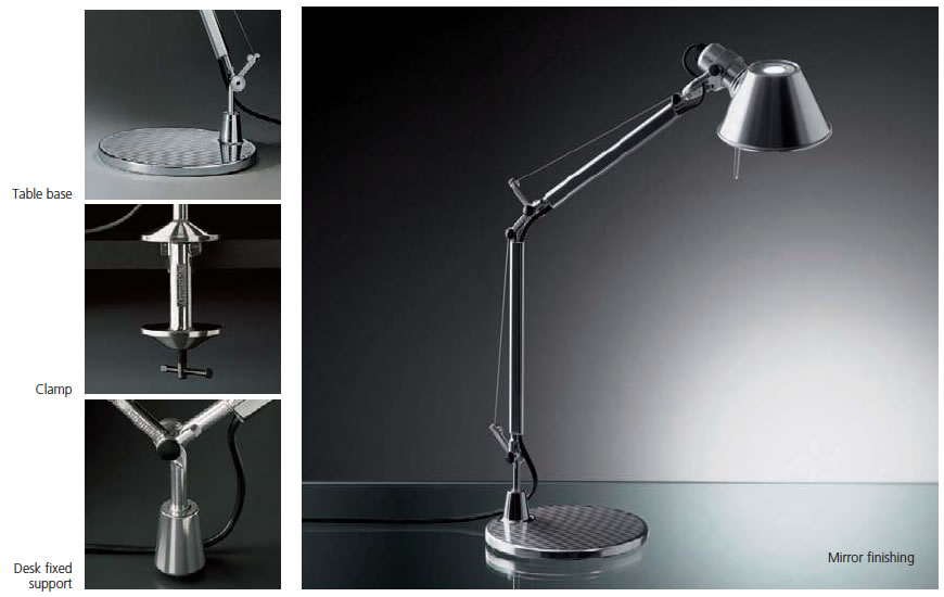 artemide tolomeo micro con pied de lampe de a001300. Black Bedroom Furniture Sets. Home Design Ideas