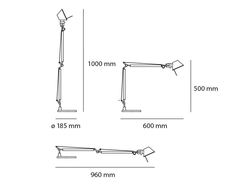 Tolomeo Midi LED Sobremesa 9w LED Cuerpo Lámpara Aluminio Artemide Foto