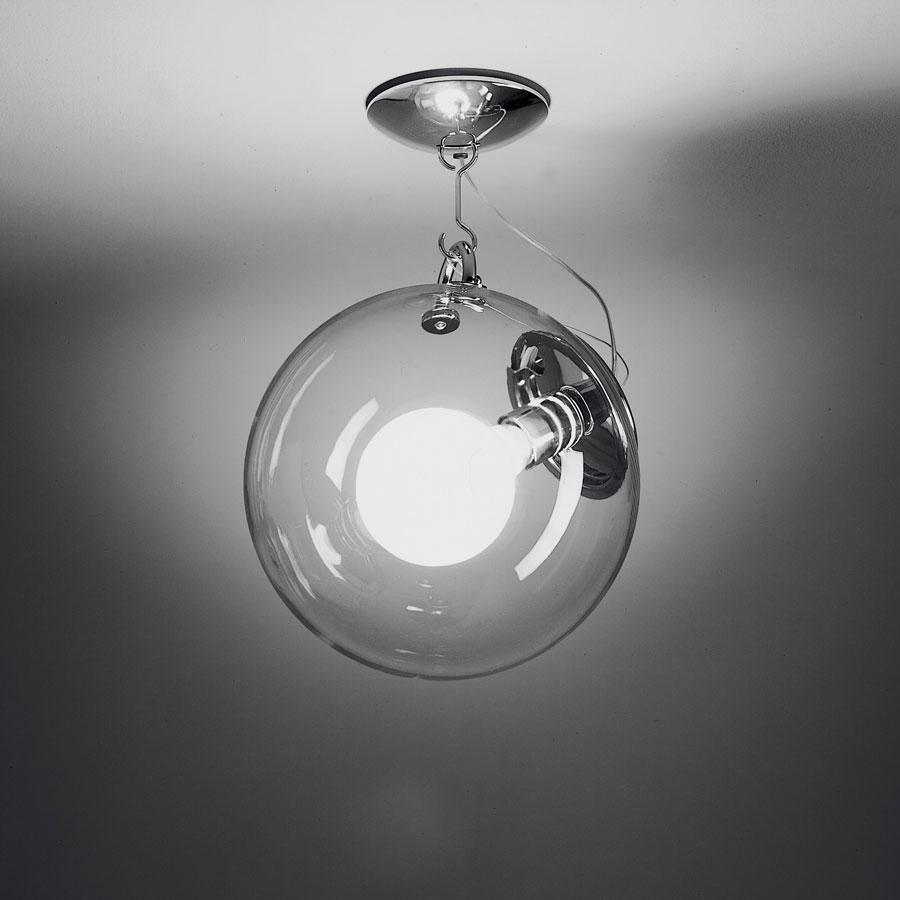 artemide miconos ceiling lamp metallic structure polished chrome a022800. Black Bedroom Furniture Sets. Home Design Ideas