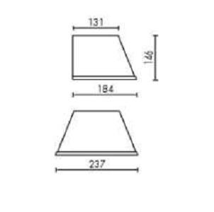 Choose Aplique IP23 Estructura gris Aluminio Difusor pergamino Artemide Foto
