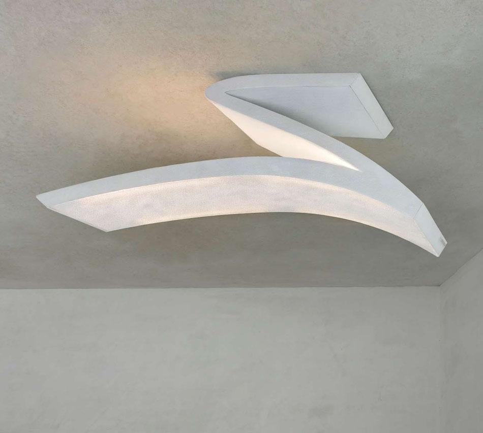 Arturo Alvarez Spline Ceiling Lamp 150x40x50cm 4x24w G5