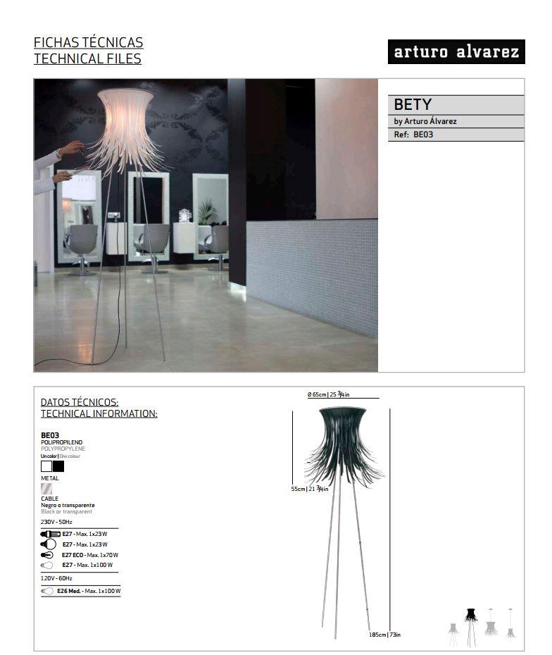 Bety Floor Lamp 65cm diametro Arturo Alvarez Image