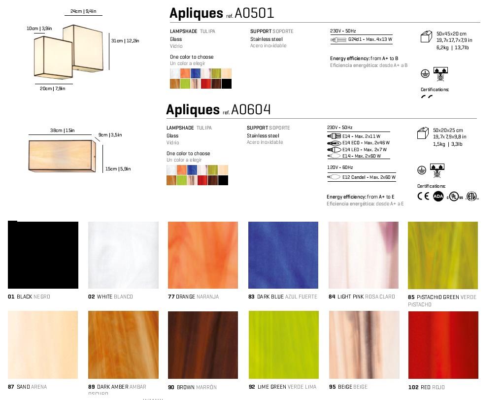Aplique 38x15cm E14 Arturo Alvarez Foto
