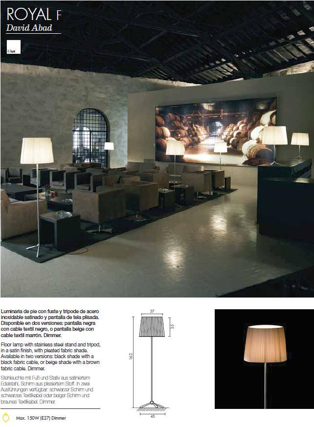 b lux royal f stehlampe oversize kabel schwarz e27 4x100w. Black Bedroom Furniture Sets. Home Design Ideas