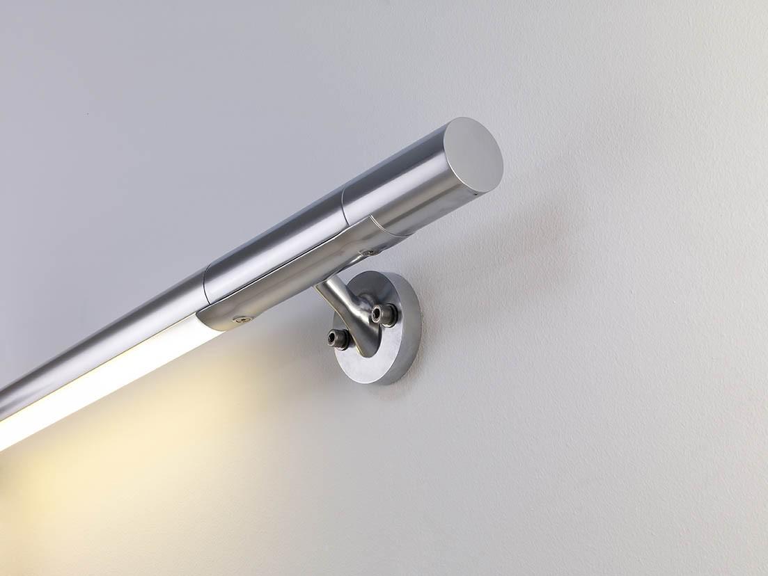 B lux hold sistema de pasamanos con luz fluo 681100 for Pasamanos de aluminio