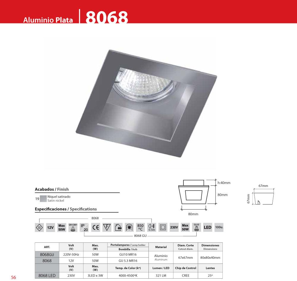 bpm lighting 8068 square recessed of 1 light led 8068. Black Bedroom Furniture Sets. Home Design Ideas