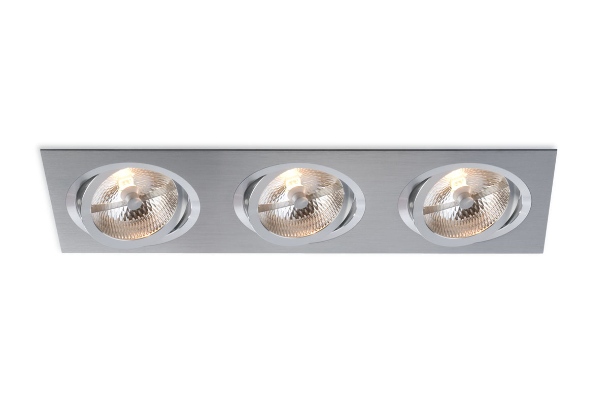 bpm lighting 3052 embutida de 3 luzes retangular led. Black Bedroom Furniture Sets. Home Design Ideas