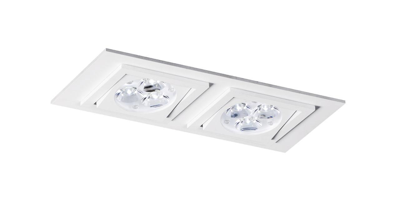 bpm lighting 4267 recessed of 2 lights gu10 white 4267. Black Bedroom Furniture Sets. Home Design Ideas