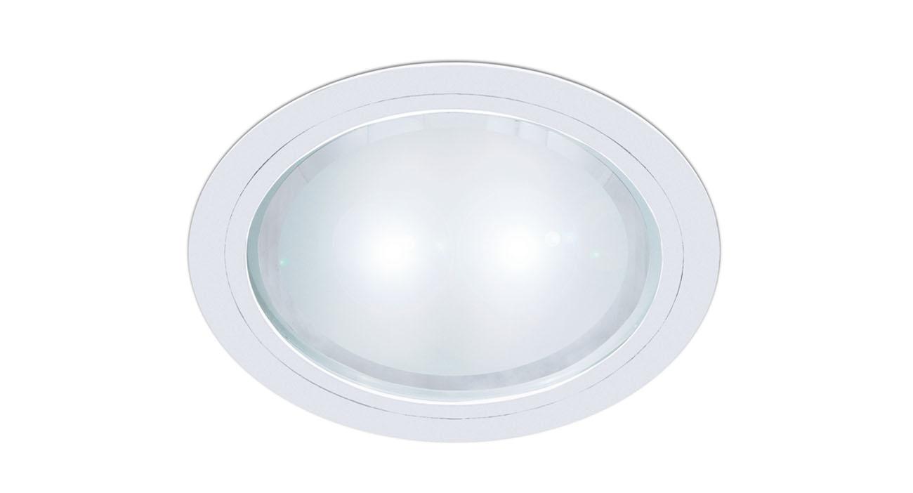 bpm lighting 4275 downlight round 2x26w g24q 3 white 4275. Black Bedroom Furniture Sets. Home Design Ideas