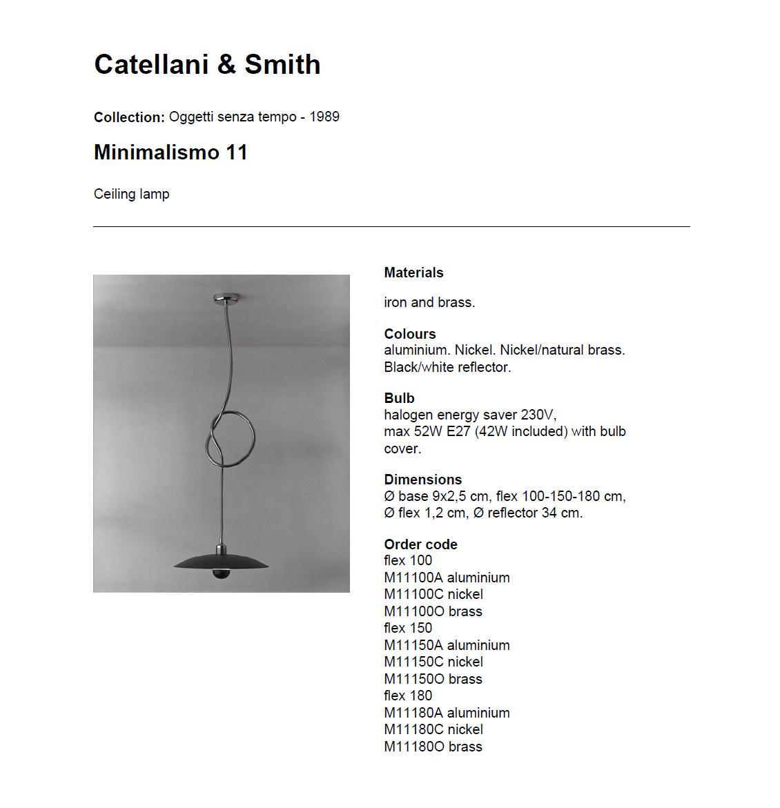 Minimalismo 11 Plafón Flex 180 Níquel Catellani y Smith Foto