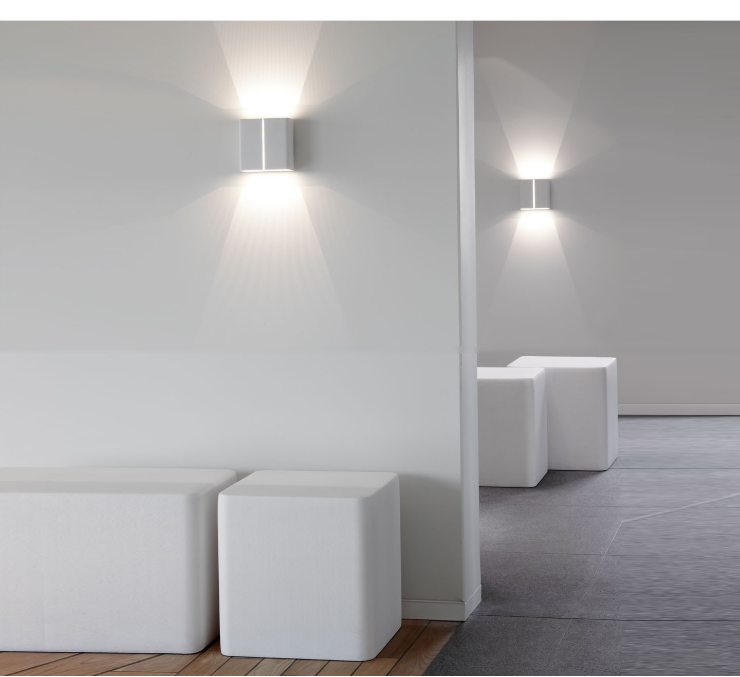 Wall Lamps White : Delta Light Visa Wall Lamp LED WW 4x1w white 275-07-24-W