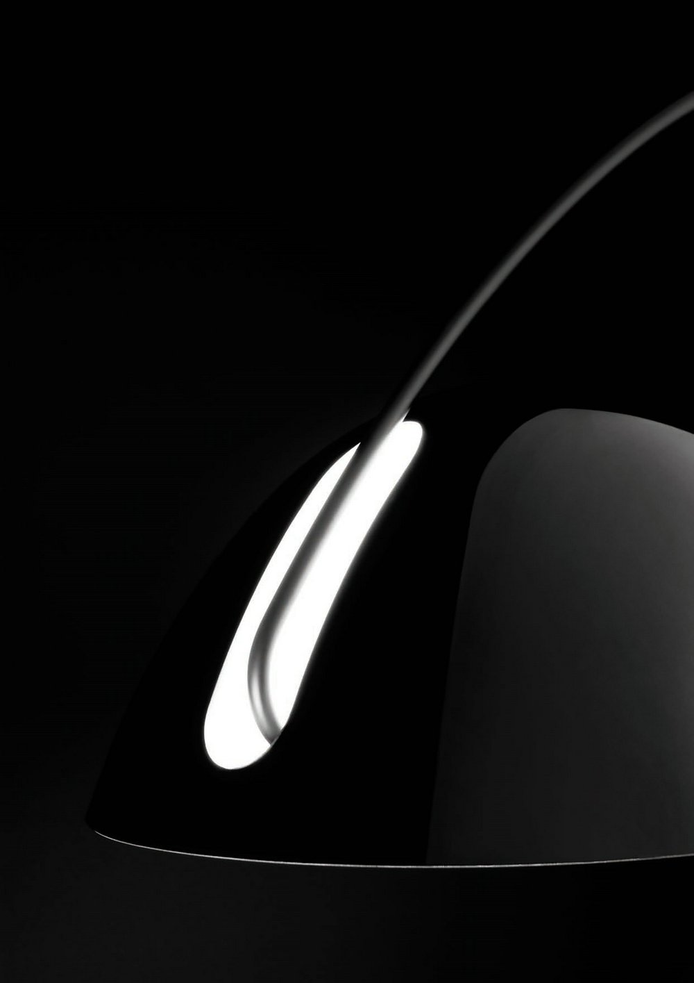 Pluma P 2959 lámpara de Pie con brazo extensible con dimmer E27 25w negro Estiluz Foto