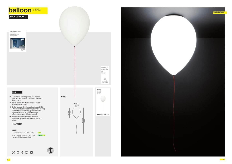 Estiluz Balloon T 3052 Ceiling Lamp 26cm E27 20w 030527400