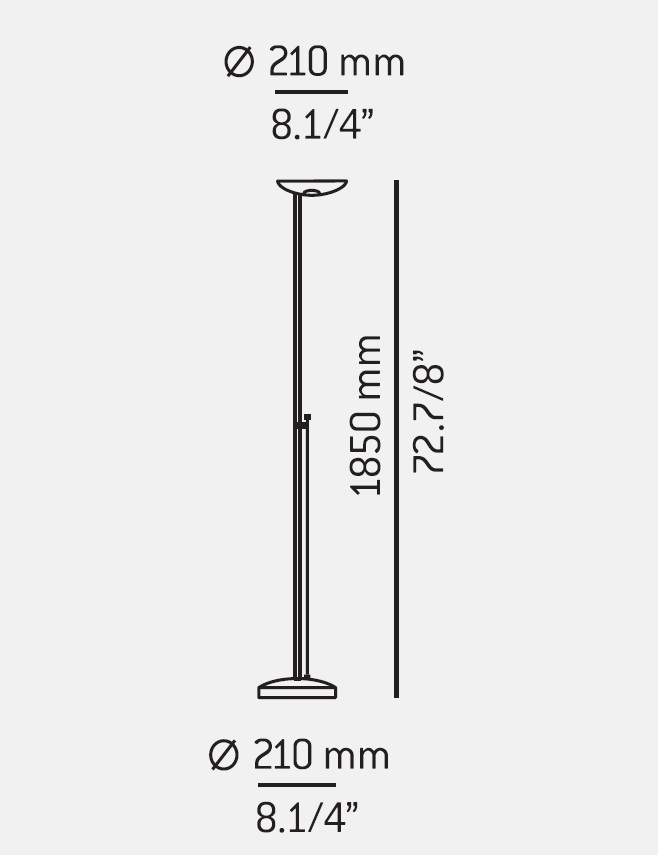 P 1129 Lámara of Floor Lamp R7s 1x200w dimmable Black Estiluz Image