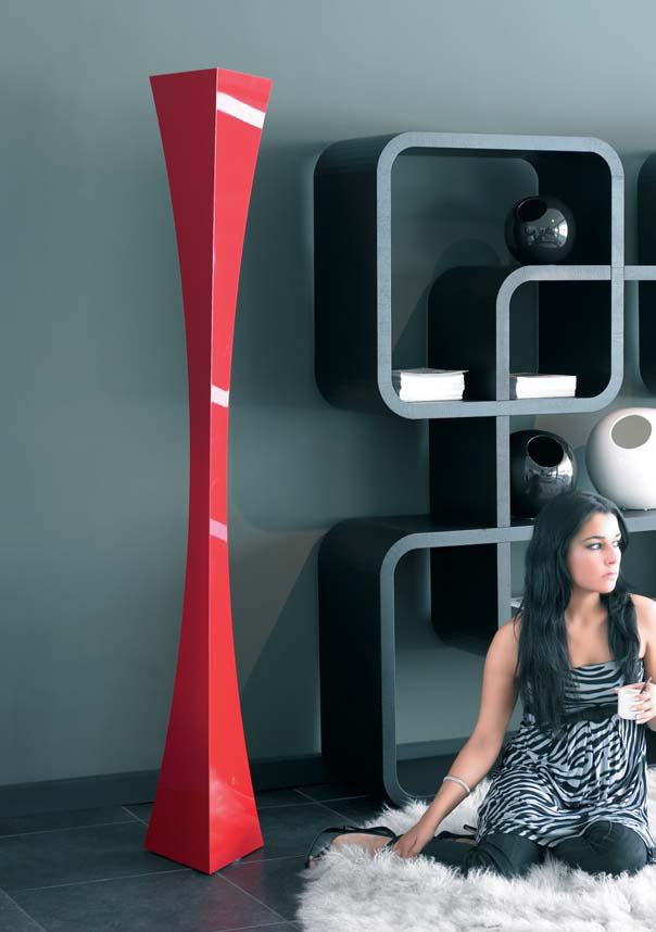 evaluz vortex stehlampe rot 2126 r l mparas de dise o. Black Bedroom Furniture Sets. Home Design Ideas
