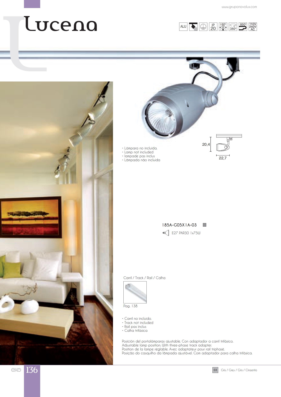 Exo lighting lucena proyector e27 par30 1x25w gris 185a - Lamparas lucena ...