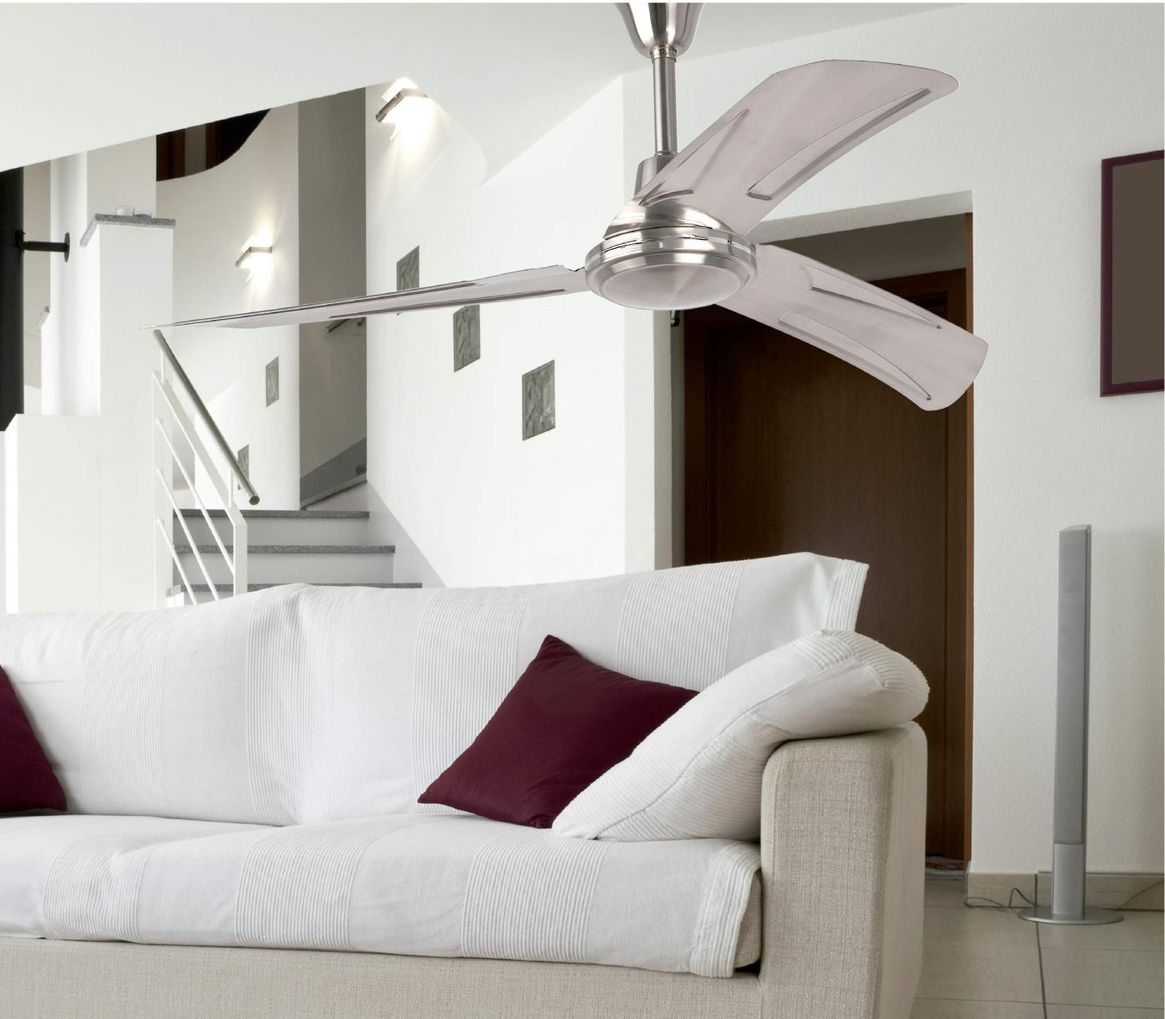 Faro hunter industrial ventilador techo 33075 l mparas - Ventilador techo diseno ...