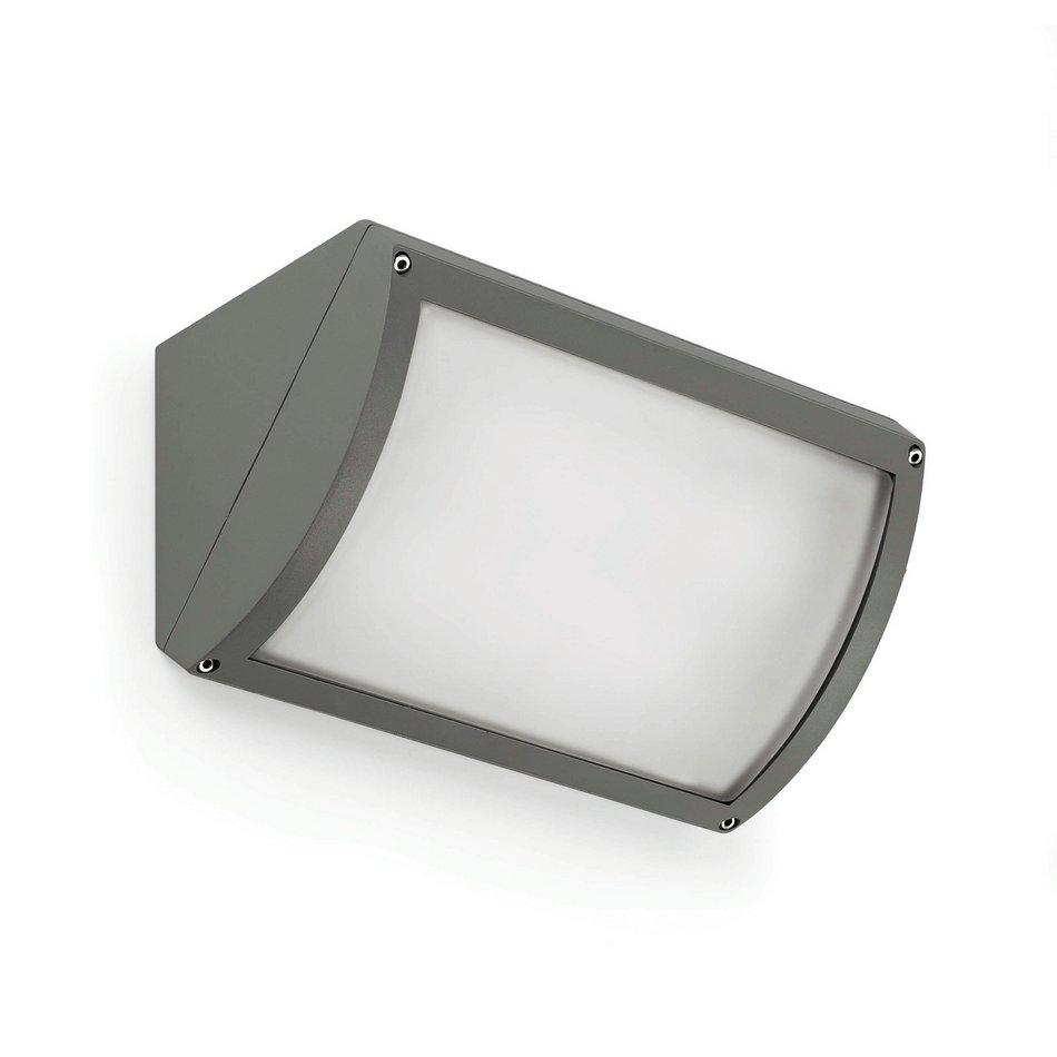 Faro vertex aplique exterior gris oscuro 2l 70623 for Exterior gris oscuro