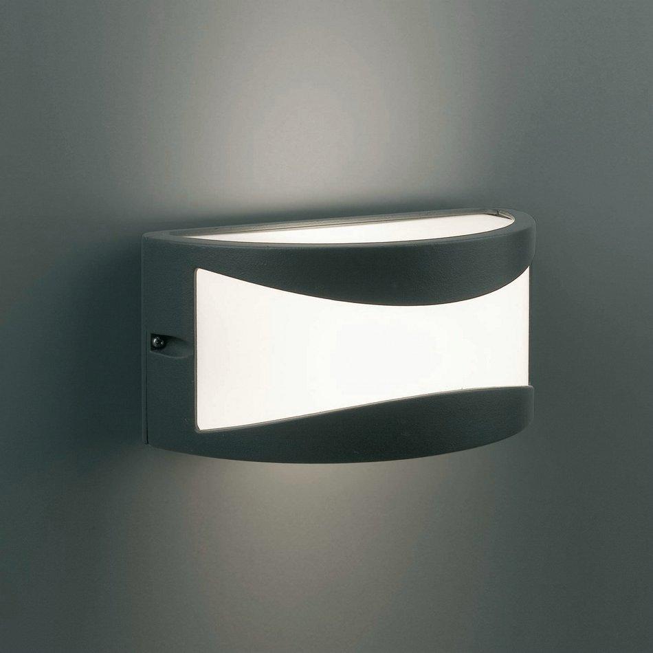 Faro bonn 1 aplique exterior gris oscuro 1l 70702 for Exterior gris oscuro