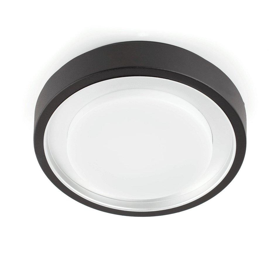 Faro gobbi plaf n exterior negro 2l 11w 70718 l mparas for Plafones exterior iluminacion