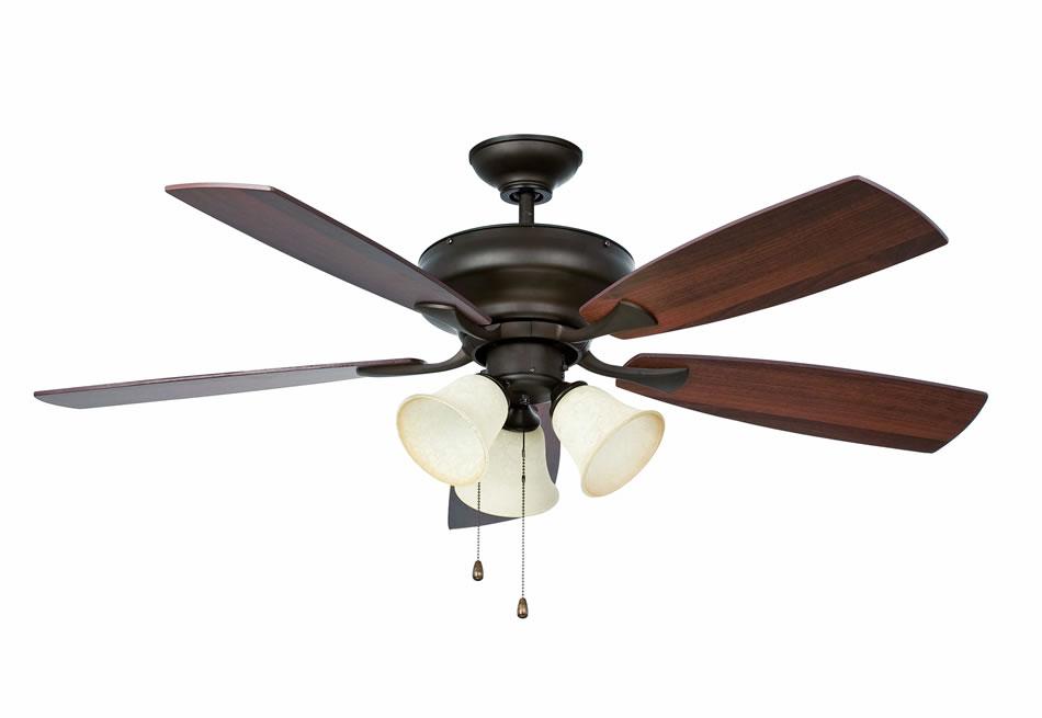 Faro thira ventilador con luz marr n 33128 l mparas de - Lamparas con ventilador ...