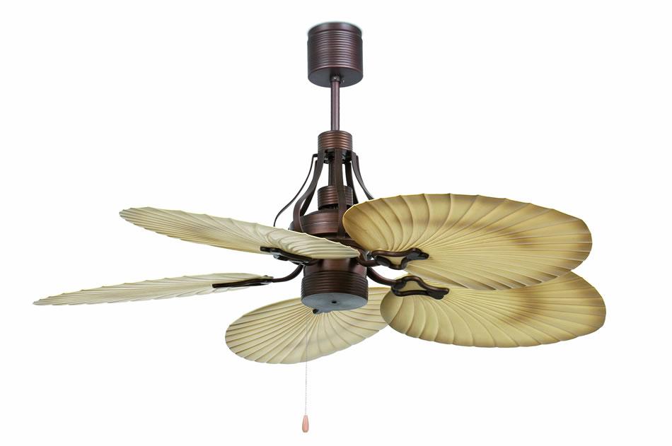 Faro tropical ventilador techo marr n 5 33364 l mparas - Ventiladores de techo de diseno ...