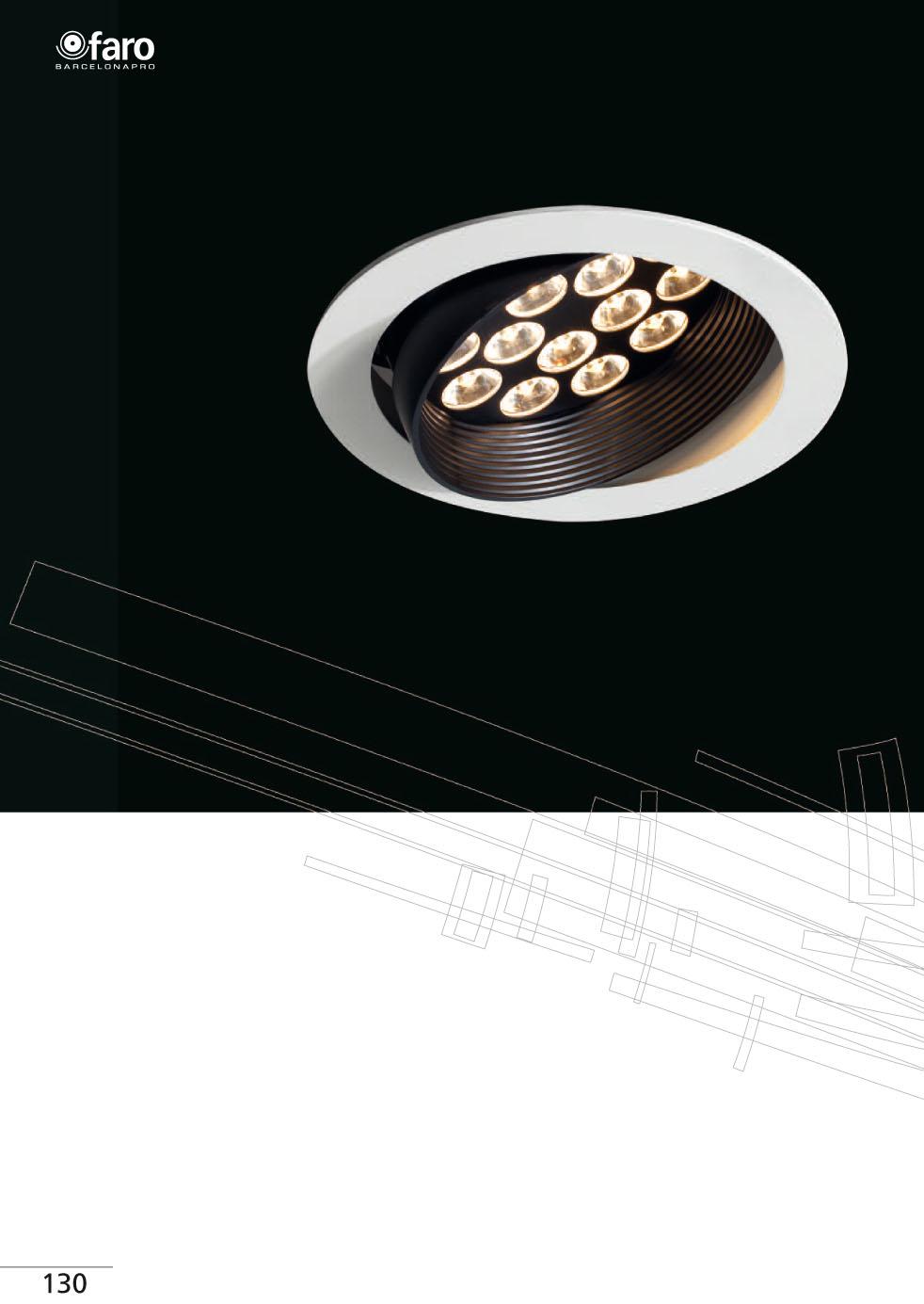 Faro lynx downlight led adjustable 15xled 1w 03070901 - Downlight led para cocina ...