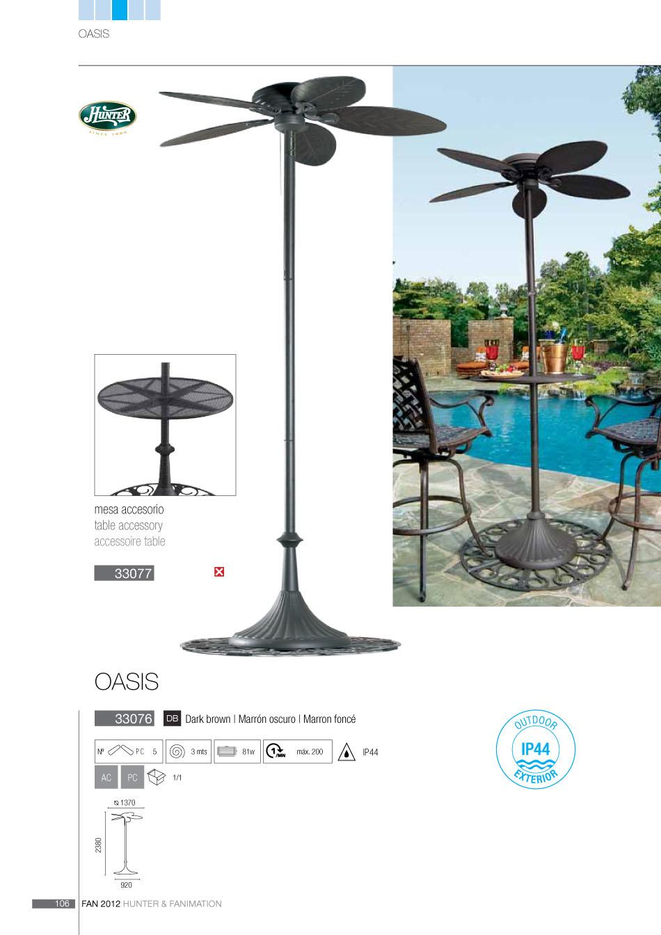 Faro oasis hunter ventilador de pie exterior 33076 l mparas de dise o - Ventilador exterior ...