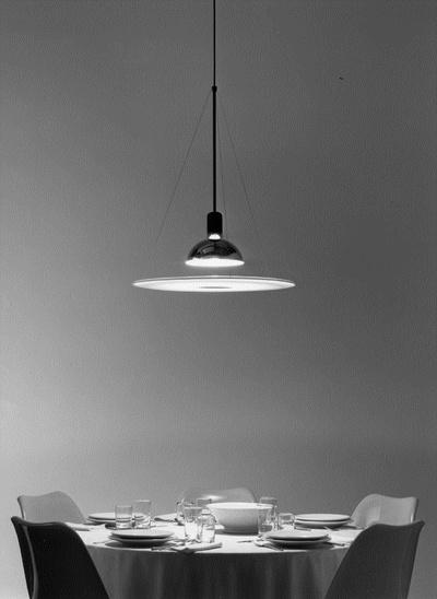 Flos frisbi pendant lamp 1x105w e27 f2500000 l mparas de for Castiglioni light