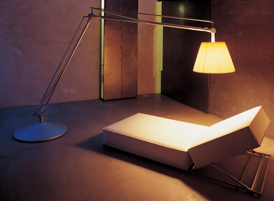 Superarchimoon lámpara of Floor Lamp E27 HSGS dimmable Silver Matt Diffuser tela Flos Image