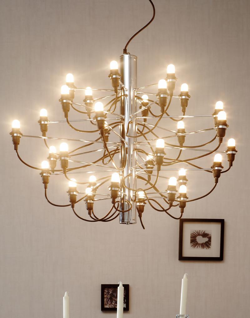 Flos 2097 30 lampada a sospensione 30x15w e14 a1400057 for Flos lampadario sospensione