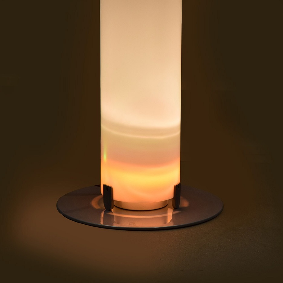 Stylos lámpara de Pie gris Plata E27 120w Flos Foto