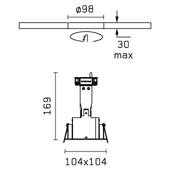 Micro Battery 1L negro 1xQR-CBC 51 50w Flos Architectural Foto